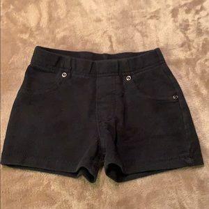 GARANIMALS Toddler Girl Black Cotton Shorts